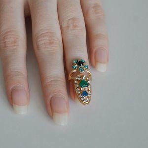 Fancy Fingernail Art Ring - Style #10